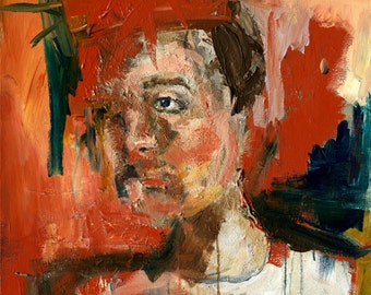 Portrait Study Art Print, Large Format Art Prints, Abstract Painting Art, Abstract Portrait