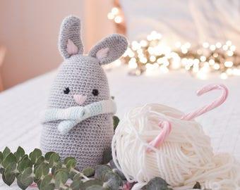Grey Bunny . Stuffed Animal Plushie Crochet Amigurumi . Decor . Kids Decor . Kids Toys