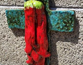 Chile Pepper Ristra Cross