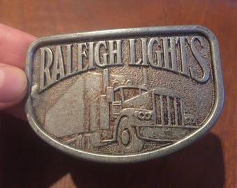 Vintage Raleigh Lights Belt Buckle . Raleigh lights buckle . Vintage buckle . Antique buckle