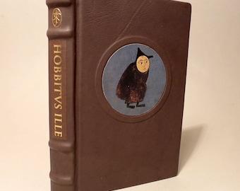 J.R.R. Tolkien HOBBITVS ILLE of the Hobbit. Latin leather binding unique