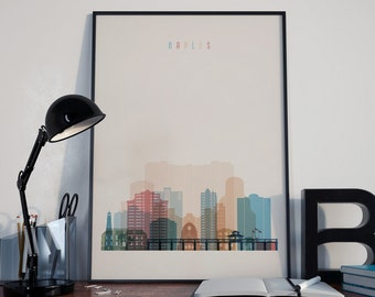 Naples Art Naples Watercolor Naples Multicolor Naples Print Naples Poster Naples Wall Art Naples Wall Decor Naples Home Decor Naples Florida