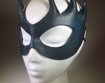Deep Blue Leather Mask
