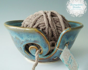 Gifts For Knitters, Yarn Bowl, Ceramic Knitting Bowl For Yarn