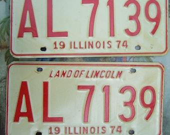 1974 Illinois License Plates