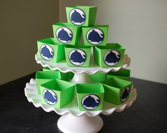 Whale Candy Cups, Nautical, Whale Favors, Whale  Party, Whale Theme, Whale Baby Shower, 12 Pcs  Navy Lime