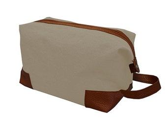 Toiletry Bag for men,Tan, Personalized Toiletry Bag, Monogram Toiletry Bag,Mens Toiletry Dopp Bag, Gift for Men,Mens Gift, Shaving kit