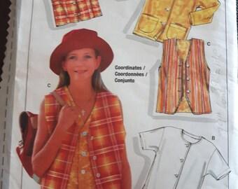 Burda 3810, Top and Vest Sewing Pattern