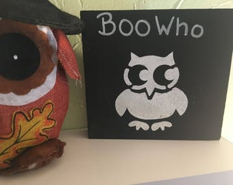 Boo who? Halloween decor
