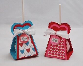 Heart Shaped Cake Pop - Lollipop Holders- Set of 6