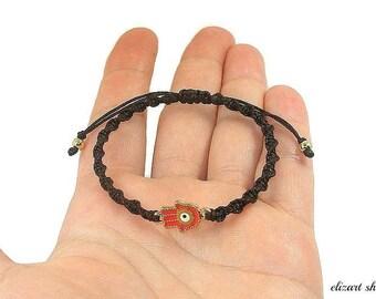 Hamsa bracelet, evil eye bracelet, hand of fatima bracelet, protection bracelet, talisman bracelet, protection amulet, protective bracelet.