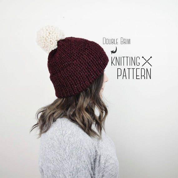 Beautiful Pattern For Knit Hat Pattern Sewing Ideas
