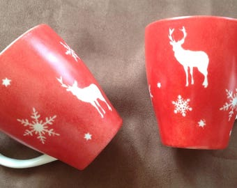 Great Mugs reindeer snowflake and stars pattern