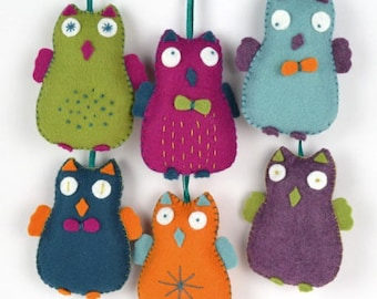 Felt Kit happy owls