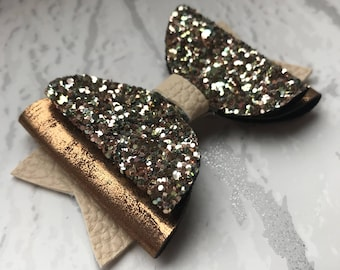 Glitter Hair Bow, Handmade Hair Clips, Hair Bows and Clips, Hair Bows for Girls, Toddler Bows, Big Hair Bows, Bows, Hair Clips