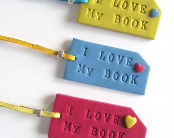 Bookmarker,Bookmark,Book,Polymerclay,Book gift, Giftidea,