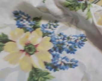 Fitted sheet Twin Floral Martha Stewart w Good tight elastic