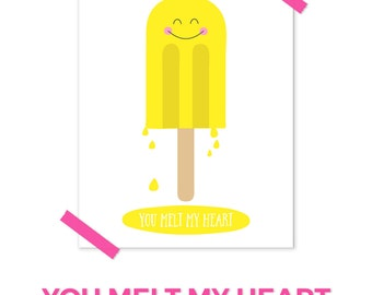 Popsicle Print, Ice Cream Print, Pink Nursery Art, Yellow Nursery Decor, Aqua Nursery, Kawaii Art, Nursery Quotes, Nursery Printables
