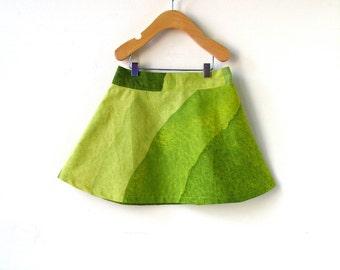 Filles taille 4 vagues de Marimekko jupe-vert