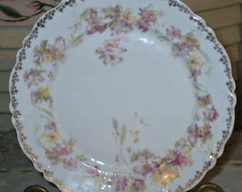 COTTAGE CHARM - Gorgeous Cabinet Plate - Porcelain Plate - Display Plate - Ornate - Vintage