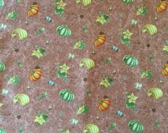 Fabric:  PUMPKINS and GOURDS  by Debbie Mumm  1 Yard