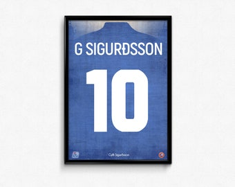 Gylfi Sigurdsson - Iceland - World Cup 2018 Print Poster Russia Football Soccer