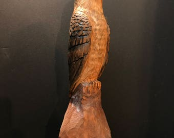 Coopers Hawk, Hand Carved