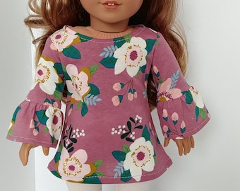18 inch doll clothes. Fits like American girl .18 inch doll clothing. Floral tunic and Leggings