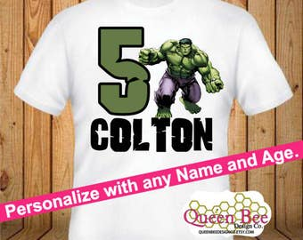 Hulk Birthday Shirt - kids Birthday Shirts - Personalized Shirts - Custom Shirts - Kids - Birthday Shirts-