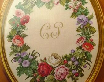 Antique flowers ( 60 x 80 cm ) Permin of copenhagen 70-4315