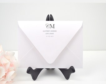 Envelope Addressing, Calligraphy, Return Addressing, Guest Addressing, Script, Elegant,  Invitation, Modern, Monogram, STYLE #108