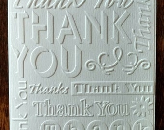 Set of 3 Thank You Greeting Cards 8 ways