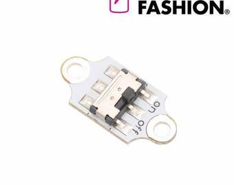 Electro-Fashion, Slide Switch Sewable electronics e textiles e-textiles sewable switch