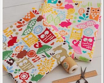 Cotton Linen Fabric Cloth -DIY Cloth Art Manual Cloth -The Owl Linen Fabric 55 x18 Inches