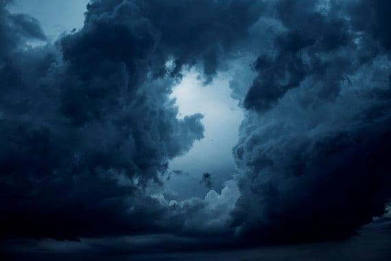 Dark Blue Sky Background: Storm Clouds Photograph Digital Download Fine Art Photography