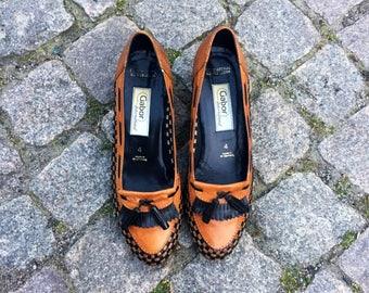 Ladies/womens/vintage/shoes/loafers/flats/tassle/size 4 UK / 6 US / 36 EU/preppy/tomboy/chic/urban