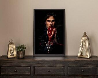 Vampire Diaries Damon Limited Artwork