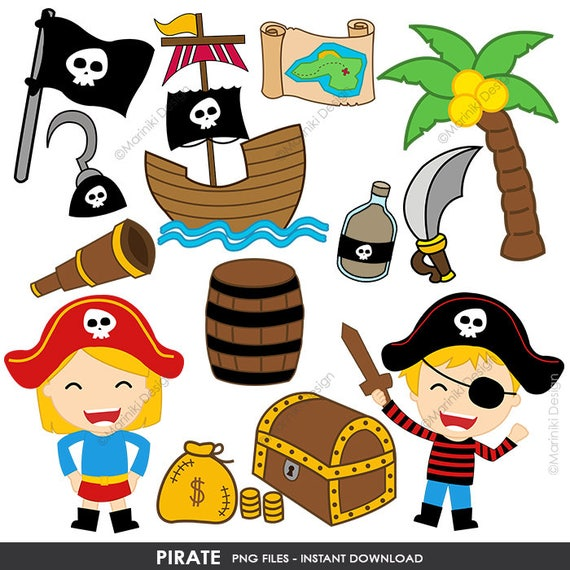 pirate clipart cute pirates clip art pirate boy girl clip rh etsy com pirate clipart images free pirate clip art images