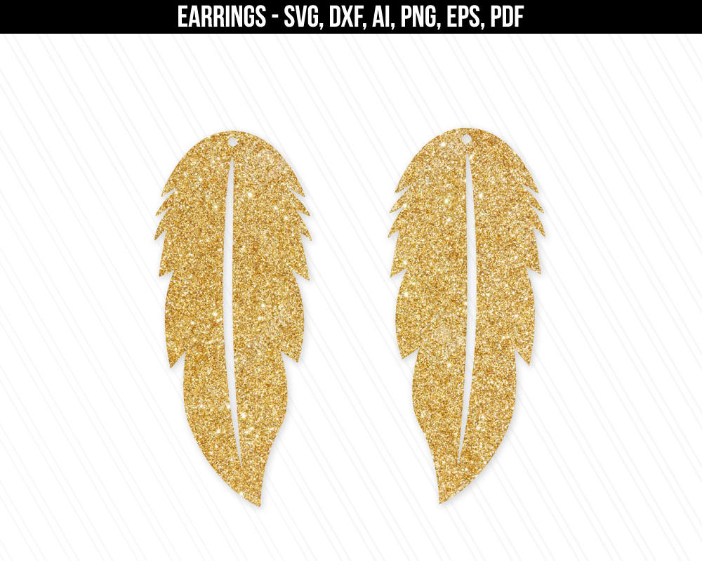 Earrings svg Feather earrings svg Jewelry svg leather