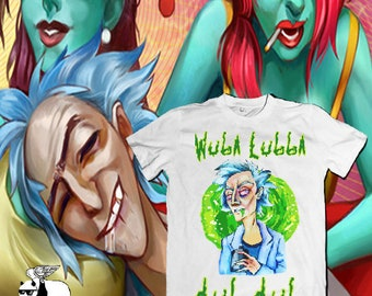 Rick and Morty T-Shirt  White Unisex 100% Cotton,Netflix Tees, Aesthetic Tee