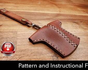 Key Holder Pattern - Leather DIY - Pdf Download - Key Fob Template - Leather Key Holder Template