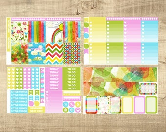 Over the Rainbow 4 Page Weekly Kit for Erin Condren Vertical LifePlanner