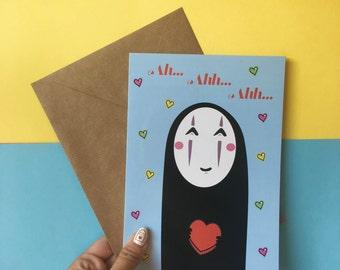 No Face Loveheart Card