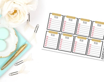 Washi Checklist Planner Stickers
