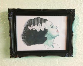 FRAMED Bride of Frankenstein Art Print