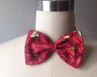 Raspberry Pre-tied Bow tie, Mens bowtie