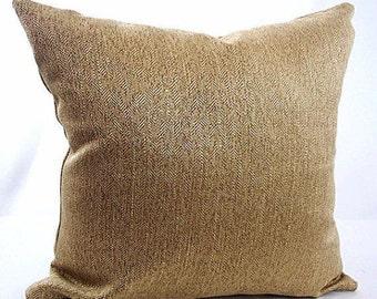 Gold cushion covers, Gold throw pillow, Bronze pillow, Gold pillow sham, Dark gold pillow, Bronze gold pillow, Decorative  cushions, sofa