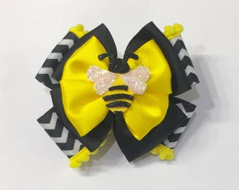 Honey Bee Hair Bow