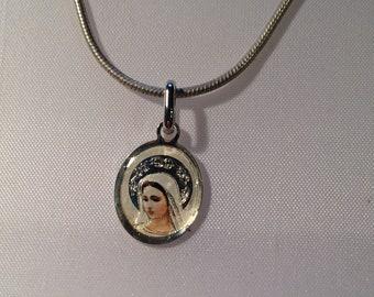 Pendant in silver 925/-Madonna