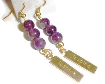 Inspire Amethyst Earrings